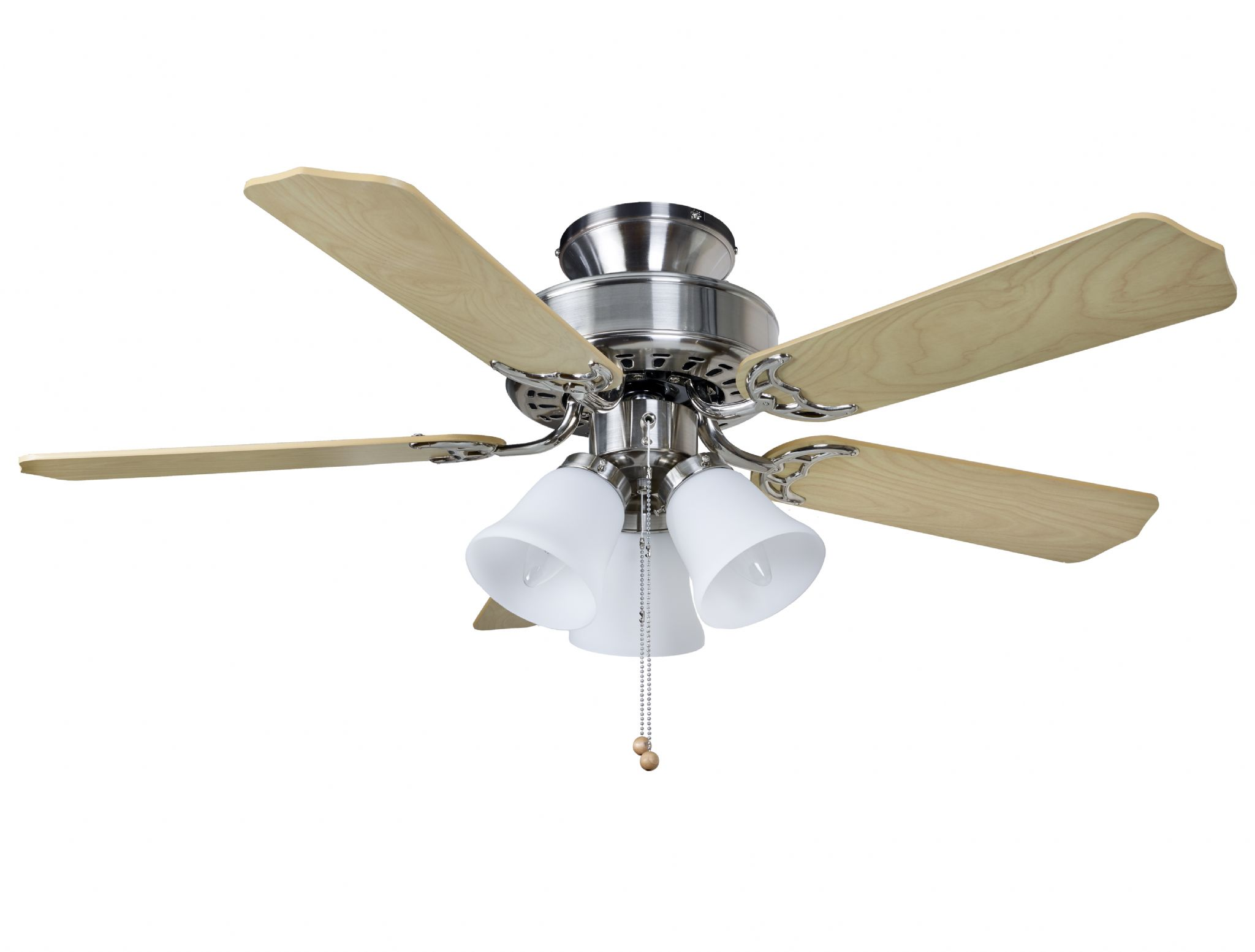 Fantasia Las Vegas 42 Brushed Nickel Ceiling Fan Light 12